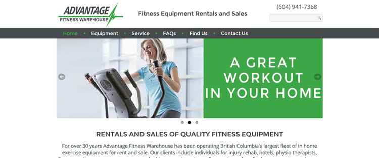 Advantage Fitness Warehouse Logo